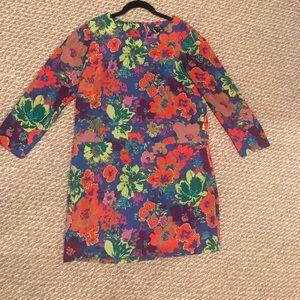 Gorgeous floral jcrew size 6 shirt dress!