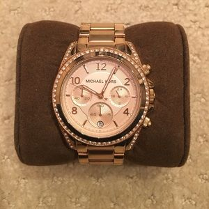 Blair Rose Gold Tone Stainless Steel Watch
