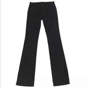 J Brand Jet Black Slim Baby Bootcut Jeans