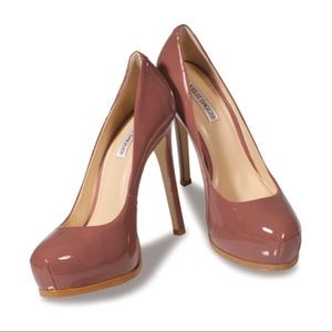 NEW Kelsi Dagger Linzy Platforms In Patent Blush