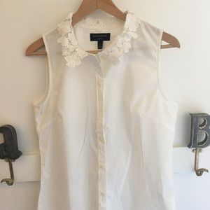 Flower collar blouse, worn once. Perfect condition