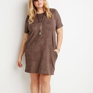Forever 21 Plus Suede Dress