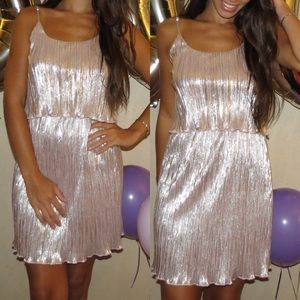 Rue 21- pale pink and silver dress