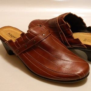NAOT Women's Shoes Clogs ISRAEL Leather Brown Sz 8