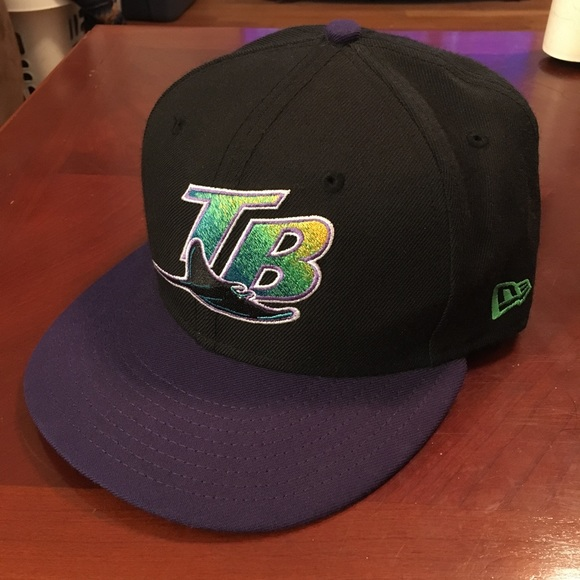 c1cc6fda623 NEW ERA TAMPA BAY DEVIL RAYS FITTED HAT 7 1 8. M 59eaced95a49d0c4c7029a51