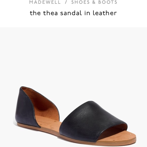 13ed9040abd Madewell Shoes - Madewell Thea leather D Orsay Sandals  Flats Sz 6