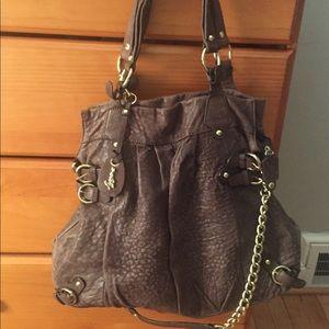 Hype leather brown messenger/satchel bag