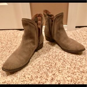 Soft suede leather booties