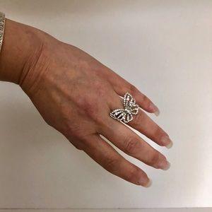 18k butterfly ring