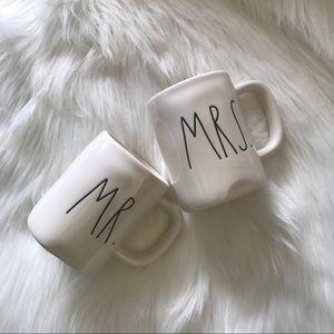 Rae Dunn Mr and Mrs Coffee Mug Set