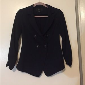 Thick Navy Buttoned Blazer.
