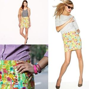 NWOT J. Crew Liberty print Tresco Floral skirt