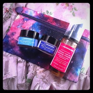 Ole Henriksen travel size scrubs and cleanser.