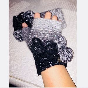 Betsey Johnson Fingerless Gloves