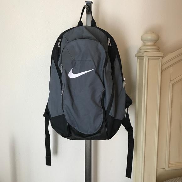 Nike Gray Gym Athletic Backpack Bag