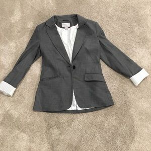 H&m gray blazer with pinstripe rolled up sleeves 6