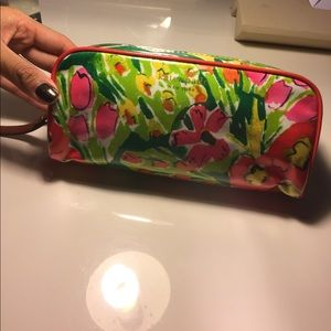 kate spade new york floral make up cosmetic bag