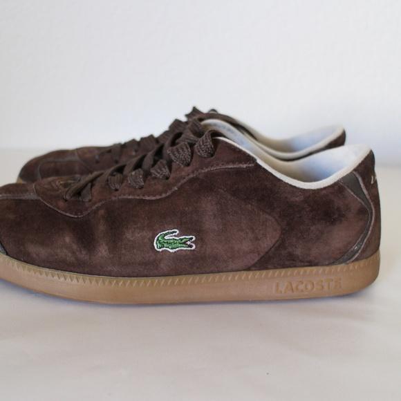 4d1ee8081e57a Lacoste Shoes - Lacoste Brown Suede Shoe Lace Sneaker