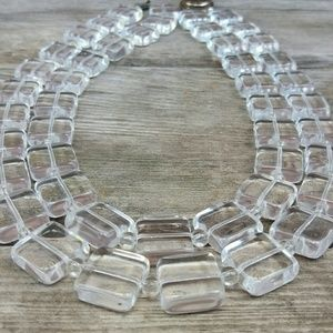 Vintage Clear Lucite Bead Necklace