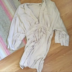 Free People Tan Slouchy Dress