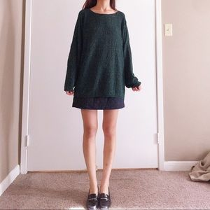 Vintage Retro forest green oversized sweater
