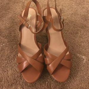 Charles David Brown Wedge Shoe 7.5