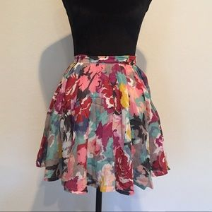 Forever 21 Multi Color Pattern Skirt Size Small