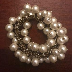 J. Crew Pearl Stretch Bracelet