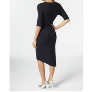 JustFab asymmetrical black dress NWT