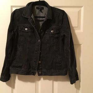 Black denim jacket good condition