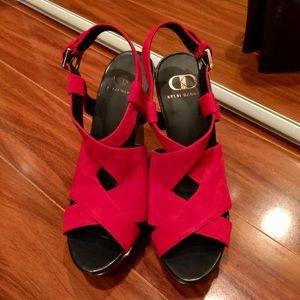 KELSI DAGGER suede platform sandals