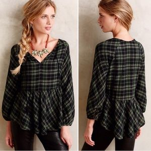 Holding Horses plaid flannel top