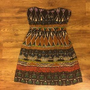 S Forever 21 Print Strapless Dress