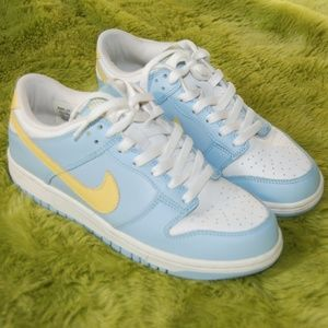 NIKE DUNK LOW Blue Yellow Sneakers size 7.5