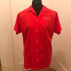 Vintage Retro Red Bowling Shirt - Lillian Dzuris