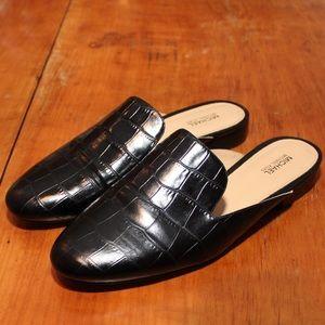 Micheal Kors Leather Croc Mules