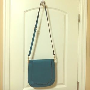 Aqua crossbody handbag