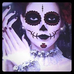 Bracelet Set Lace Skulls Goth/punk Halloween