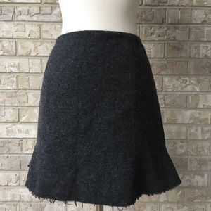 Madewell Wool  Lined  Zip Mini Bell Skirt Size 2🌸