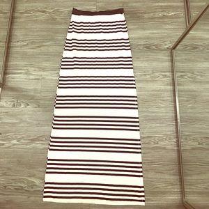 NEW black & white striped Maxi skirt  😍