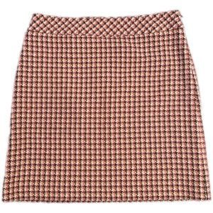 Ann Taylor Lift Tweed Multi Color Skirt Size 8