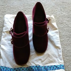 Tory Burch Red Velvet Shoes