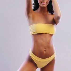 Triangl Swim Yellow Bikini Set