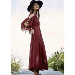 Free People Endless Summer Red Maxi Dress