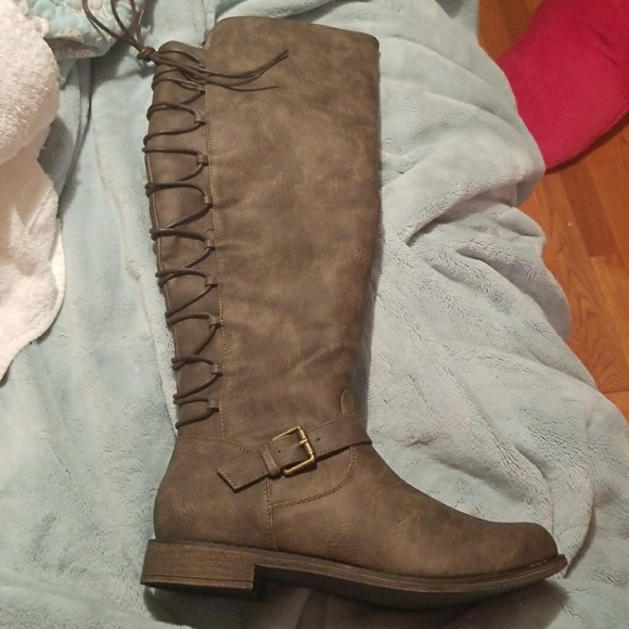 a96d9007c0 Shoes   Wide Width Tall Lace Back Riding Boot   Poshmark