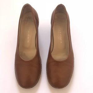 Vintage Bottega Veneta Brown Leather Pumps