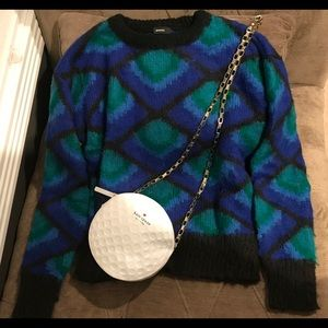 Sweaters - Emoda Blue Crash Black Mohair Knit Sweater OS