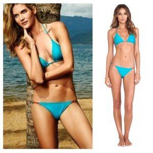 ViX Turquoise Enamel Detail Bikini Brazilian M