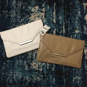 2 Style&Co. Clutches White And Tan