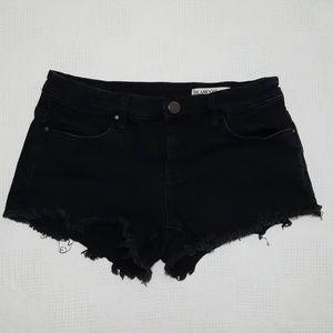 Blank NYC Little Queenie Black Cut Off Shorts - 26